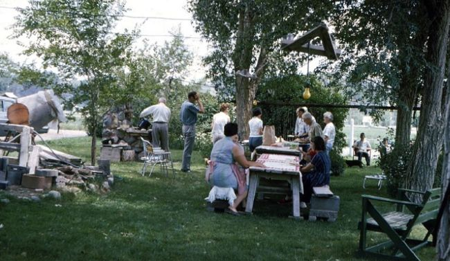 Backyard picnic, 1966, Rifle, Colorado.
